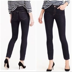 J. Crew Lookout High Rise Skinny Jeans resin wash